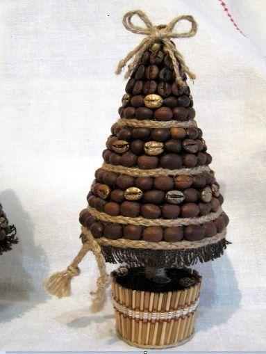 топиарий своими руками с елкой на Новый год