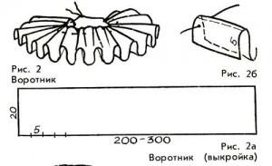 Как сделать из бумаги воротник