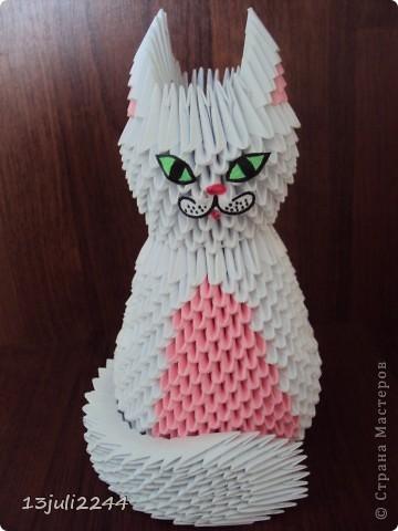 Оригами или как сделать кошку из 622
