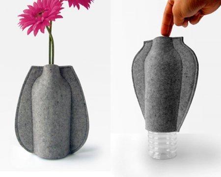 Как сделать поделку из бутылки вазу своими руками