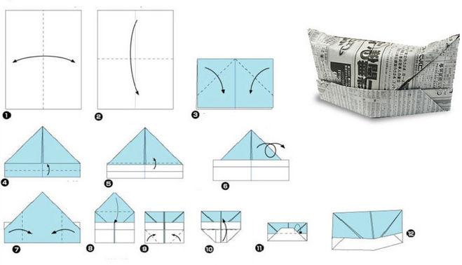 Оригами пилотка армейская