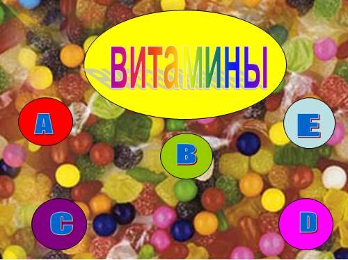 Доклад о витаминах 2-4 класс окружающий мир