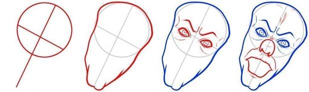 как нарисовать клоуна Пеннивайза