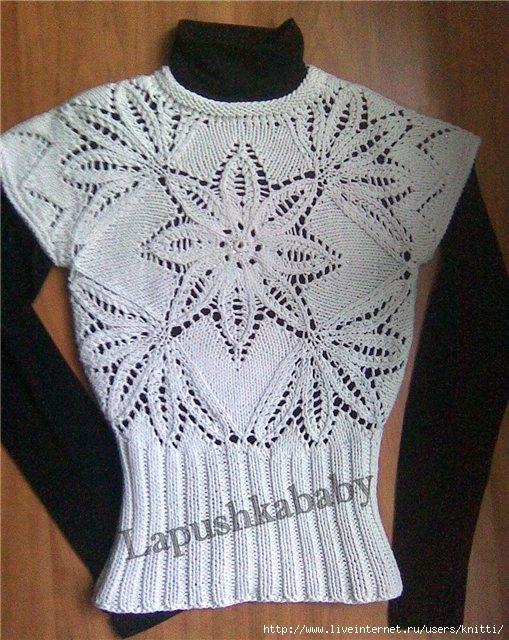 Схема вязания юбки на спицах