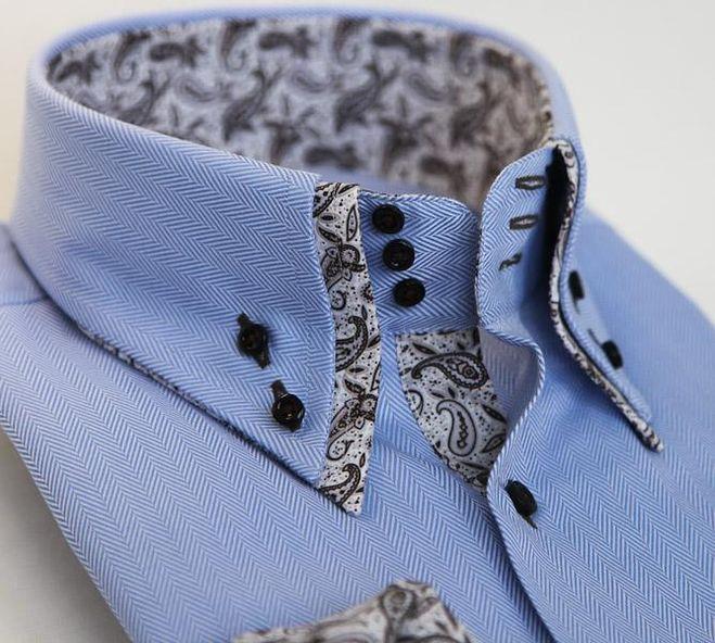 воротник с подкладкой, мужская рубашка