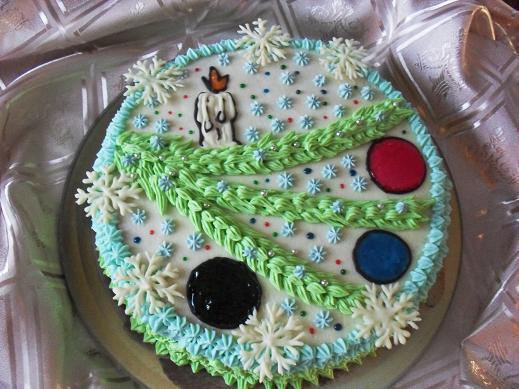 Украсить торт на год