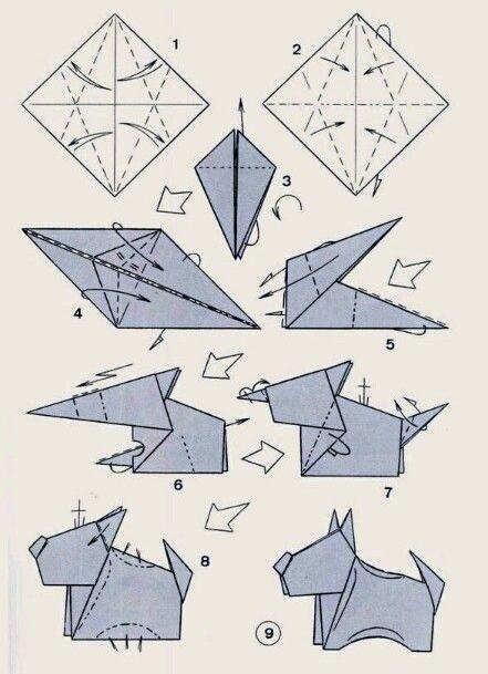 Оригами поделка своими руками из бумаги схема фото 547