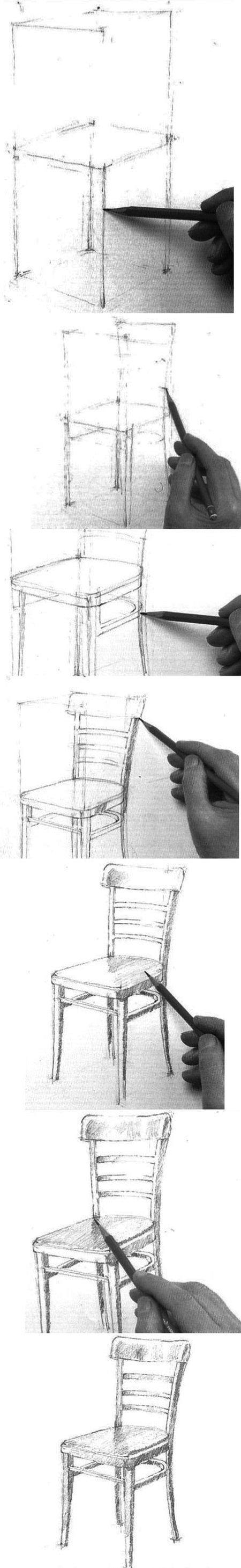 Stuhl Zeichnung