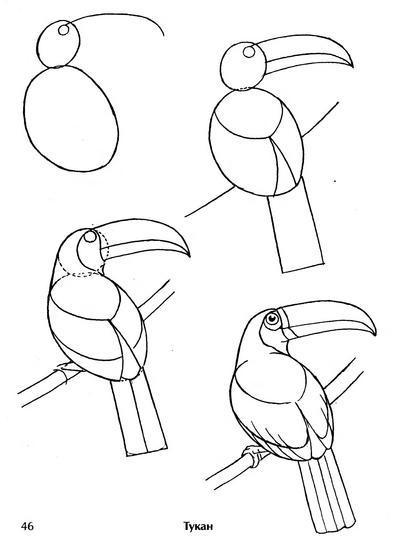 хочется изобразить птицу,