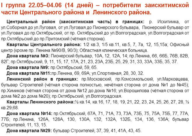график отключения горячей воды в Кемерово в 2018 году
