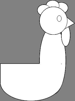 туловище петуха как рисовать
