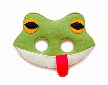 костюм лягушки на новый год маска