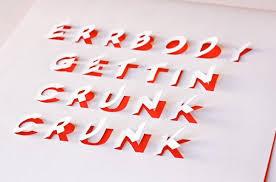 буквы из бумаги
