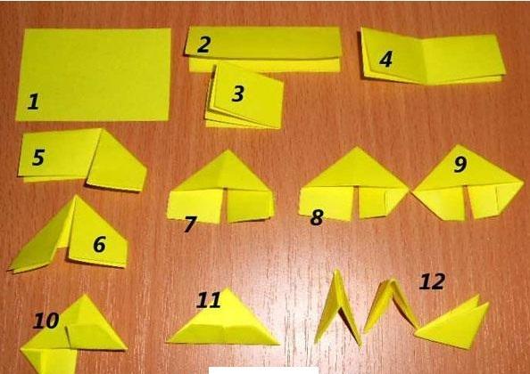 модульное оригами, как сделать модуль, часть