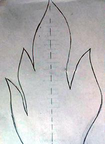 """шаблон для пламени поделеа из бумаги поделка """"вечный огонь"""""""