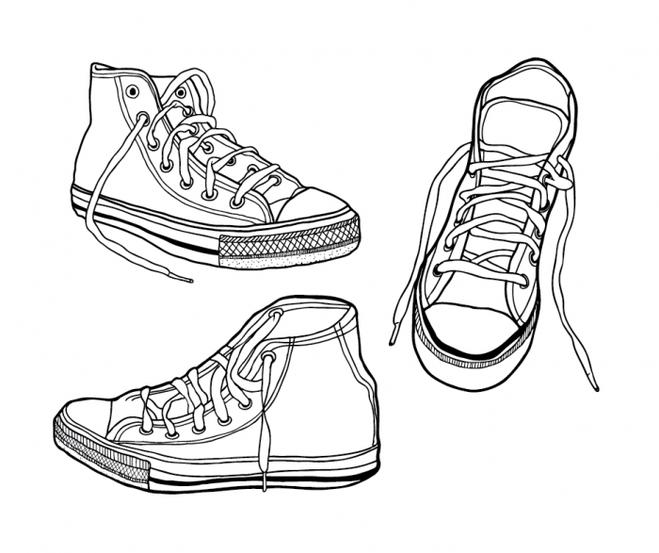 Как рисовать на кедах