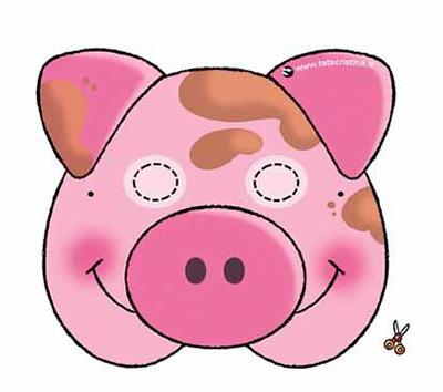 маска свиньи шаблон