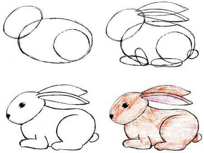 Как красиво нарисовать зайца поэтапно карандашом