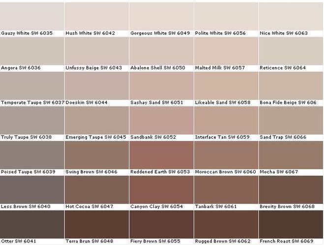 Серо коричневый цвет название