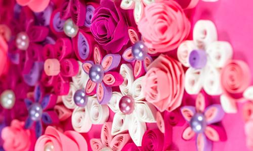 цветок-аппликация квиллинг