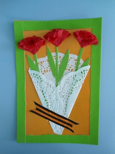 Как сделать открытку своими руками для детей на день победы