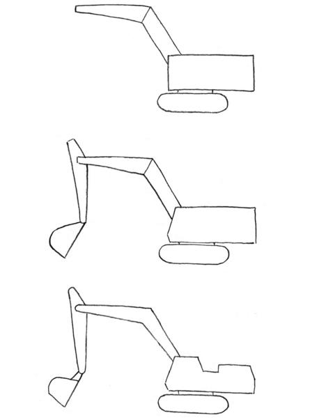 Как нарисовать поэтапно экскаватора
