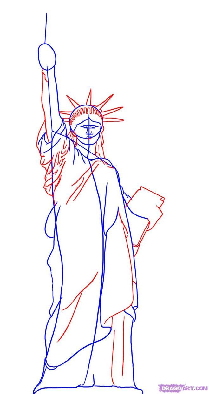 как нарисовать США