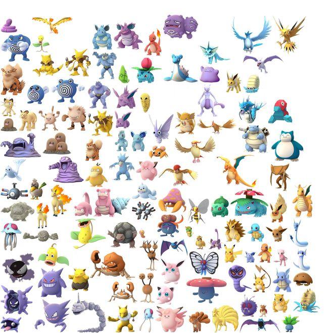 Разновидности покемонов и их имена