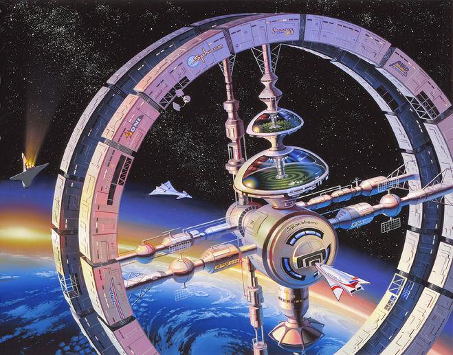 Pictures of Orbital factory future