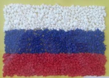 российский флаг торцевание
