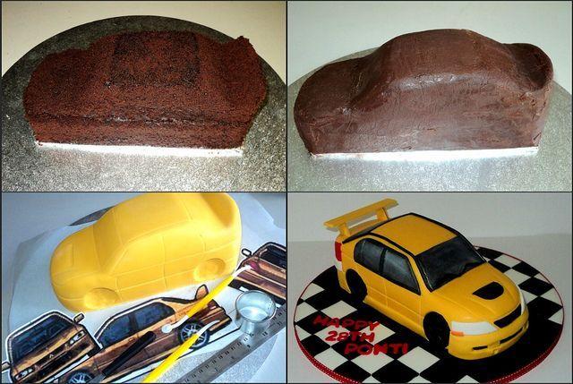Рецепт торта виде машины