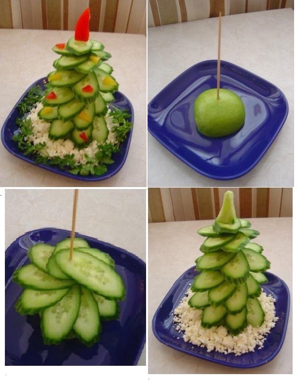 Как сделать салат в форме елочки