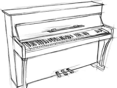 Рисунок клавиатура пианино