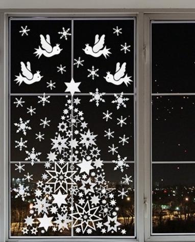Снежинки из офисной бумаги своими руками фото 304