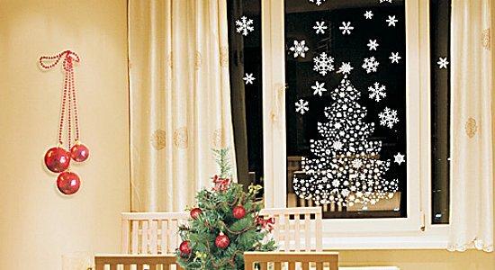 Новогоднее украшение своими руками для окон