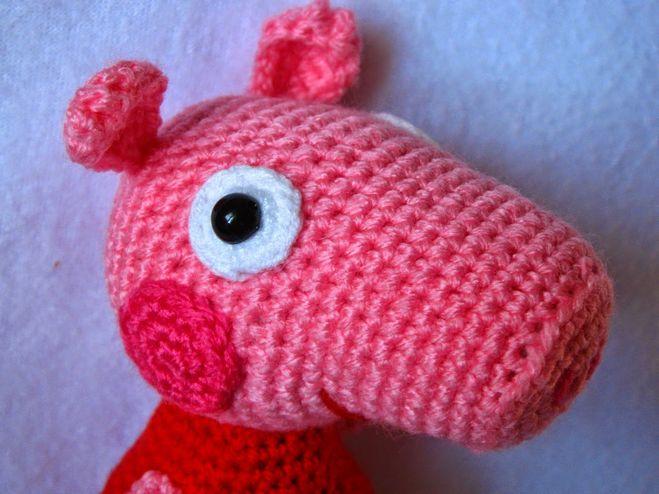 как связать свинку пеппа крючком