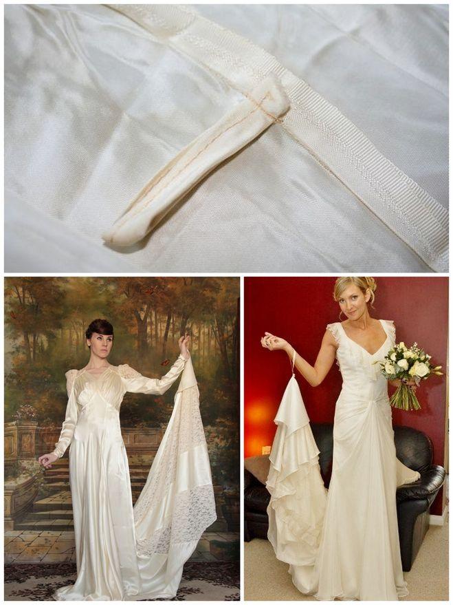 Как сделать шлейф своими руками на свадебное платье 93