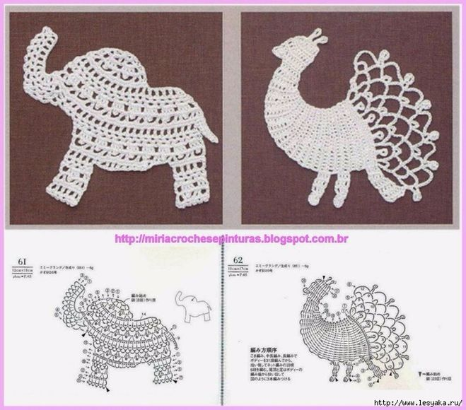 Схема вязания зверей крючком 88