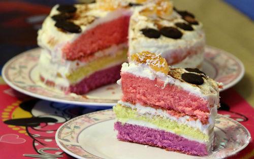 """торт """"Цветное настроение"""""""
