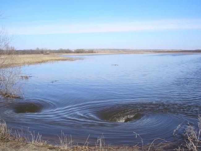 суводь, течение реки, водоворот на реке