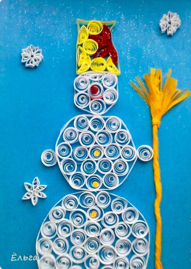 Снеговик квиллинг схемы как их сделать