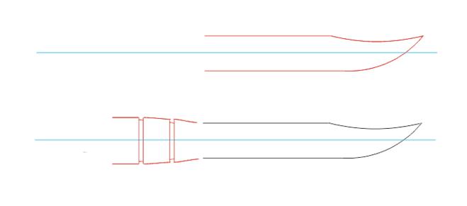Рисунок ручки керамбита