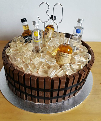 торт для подарка со спиртным напитком своими руками