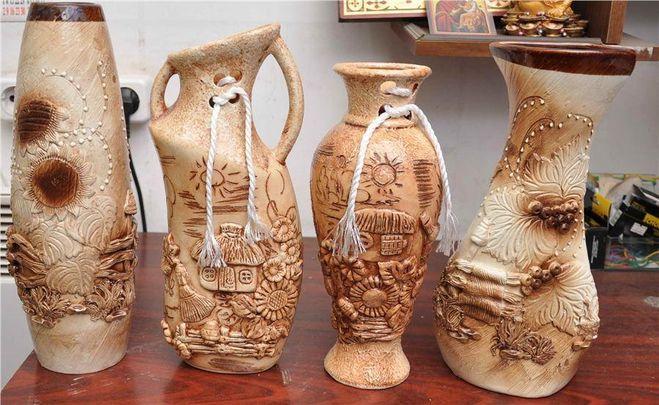 Как сделать вазу своими руками из глины 104