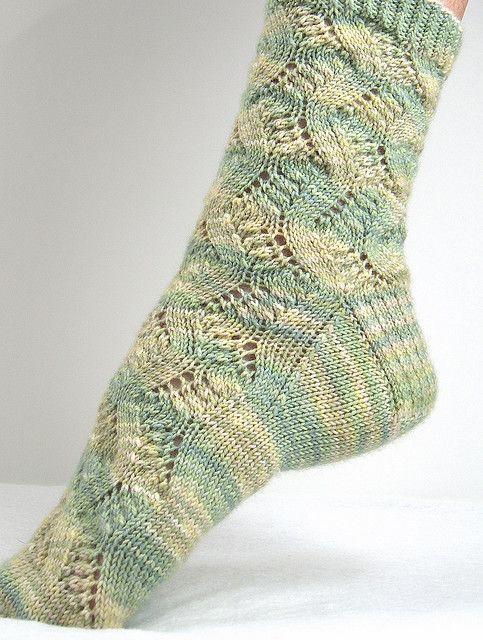 ажурные носки. Схема и