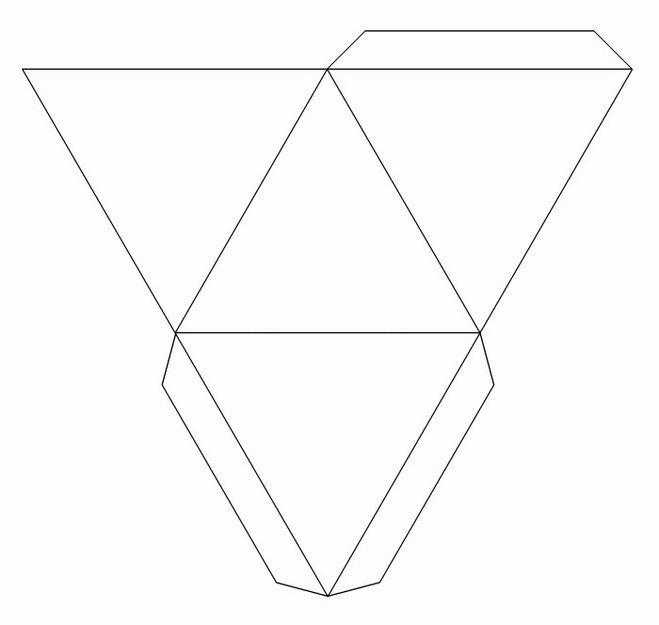 Как сделать треугольную пирамиду 292