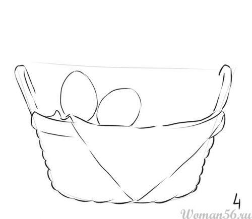 Как нарисовать корзину