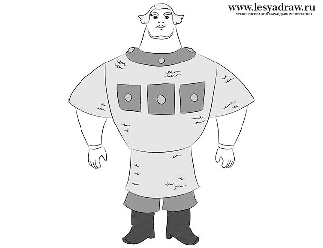 Рисунок из мультфильма три богатыря