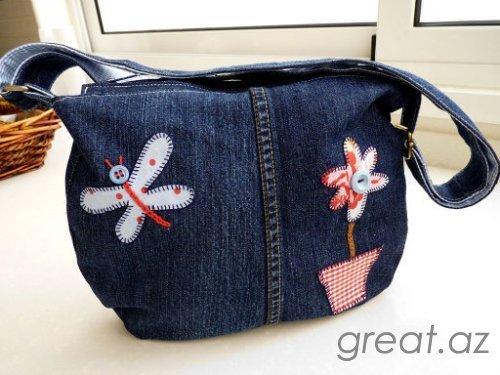 85babe975f72 Как сшить детскую сумку из джинс своими руками?