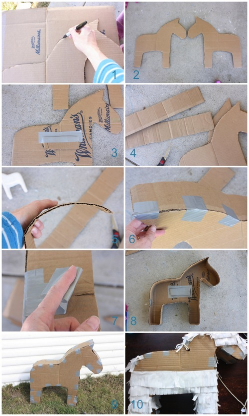 Как сделатьзону из картона